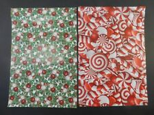 100 10x13 Candy Cane and Christmas Hollyberry Poly Shipping Envelopes Bags