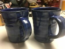 Royal Norfolk Greenbrier International Blue Swirl Coffee Mug Set (2)