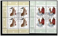 GERMANY DEUTSCHLAND 2002 CHRISTMAS SET 2 IN BLOCKS OF 4 FIRST DAY ISSUE HANOVER
