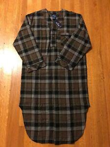 Stafford Men's Flannel Night Shirt Cotton Plaid Small Medium Pajama Sleepshirt