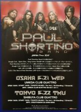 PAUL SHORTINO BAND JAPAN TOUR 2017 ORIGINAL JAPANESE CHIRASHI MINI POSTER