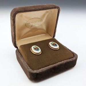 Lenox China AUTUMN Jewelry Earrings 12K GF c.1980s Pierced Ears  Hard to Find!