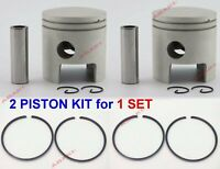 For YAMAHA Outboard (Piston Kit - 0.50 664-11636-00, Piston Ring 656-11610-22)X2