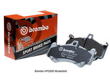 BREMBO SPORT BREMSBELÄGE PORSCHE BOXSTER 986 / CAYMAN 987 2,7