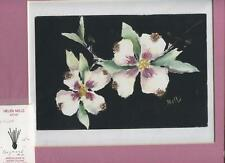 WHITE DOGWOOD TREE GARDEN FLOWER IMPRESSIONISM MATTED ARTIST ORIGINAL ART PRINT