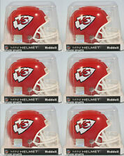KANSAS CITY CHIEFS - Riddell VSR4 Mini Helmet (6 PACK LOT)