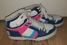 Osiris Womens NYC 83 Slim Girls Skate Shoes Blue Pink Neon Lace Up Mid Top sz 10