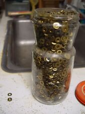 Jar of Brass Washers and Nuts