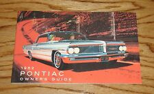 1962 Pontiac Owners Operators Manual 62 Star Chief Bonneville