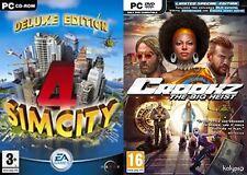 SIM City 4 Deluxe & crookz Der große Coup Limited Edition NEU & VERSIEGELT