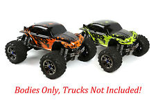 2pk Combo Custom Bodies for Traxxas T / E Maxx Shell Cover 3911R Orange&GreenMud