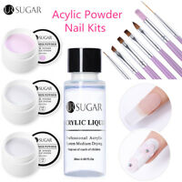 UR SUGAR 11pcs Acrylic Powder Acrylic Liquid Extension Gel Nail Brush Kit Design