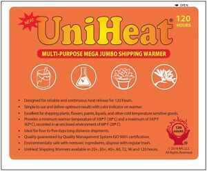 Uniheat 120 Hr Shipping Warmer Heat Pack Tropical Fish Corals Reptiles Insects