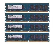 4x Elpida 2GB 2Rx8 PC2-6400U DDR2 800MHz 240pin DIMM Desktop Memory RAM Upgrade