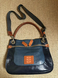 Very Rare ORLA KIELY Two Tone Leather Bellis Bag. Excellent Condition.