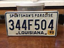 1992 Louisiana License Plate