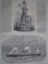 Cunard passenger steam ship SS Abyssinia 1870 print ref Z3