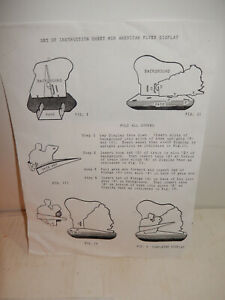 American Flyer Very Rare Instructions For 2 Boy Dealer Display Free Shipping