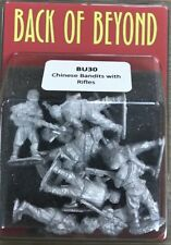 Back of Beyond Chinese Bandits with Rifles (10) 28mm Copplestone Castings New!