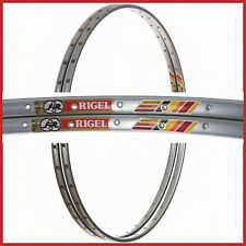 "NOS FIR RIGEL CERAMIC RIMS 28"" 700c 36H VINTAGE TUBULARS 80s ROAD RACING BIKE"