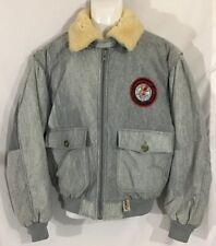 Hotdogger Jacket WW2 Mountain Bomber Shearling Collar VTG Marbled Grey