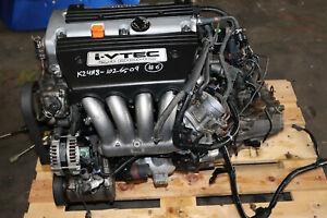 2006-2007 HONDA ACCORD 2.4L DOHC OEM I-VTEC k24a8 ENGINE / APG6 M/T Transmission