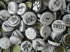 100 Black & White Bottle Caps. They are from home brewed Beer and Soda