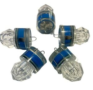 Diamond Deep Drop Fishing Flashing Blue Light 5PC Bright LED Up To 400hrs