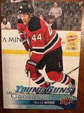 2016-17 UD Hockey Series 1 UD Canvas Young Gun Miles Wood C114 Rookie