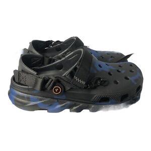 Post Malone Crocs Duet Max Clog Size 8M/10W 'Blue Black' 206542-001 *Free Ship*