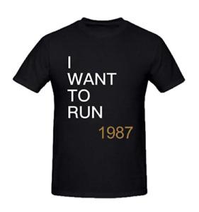 U2 The Joshua Tree I Want To Run Men's T-Shirt Crew Neck Black