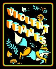 "Rare 4.5"" The Violent Femmes Fox & Flowers vinyl sticker. 80's decal for laptop."