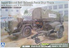 Aoshima 0235 JGSDF 3,5 T TRUCK with waterwagon & kitchenwagon 1:72