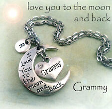 Grammy - I Love You to the Moon and Back Necklace - Special Grandmother Gift