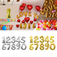 "16""/40"" INCH Large Foil Letter Number Balloons Birthday Wedding Party Decoration"
