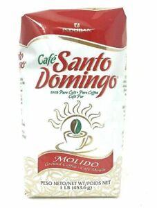 Cafe Santo Domingo 100% Pure Ground Coffee 16 OZ