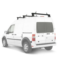"""Ford Transit Connect 2008-13 Aluminum 3 Bar 50"""" Utility Drilling Roof Rack Black"""