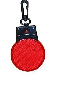 Pet Cat Dog Collar Red LED Night Safety Clip Tag Flashing Street Light