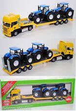 Siku Farmer 1984 Scania R620 LKW mit Traktoren New Holland T7070, 1:50, OVP