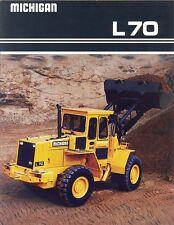 1989 Michigan L70 Loader Sales Brochure
