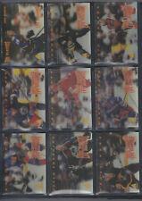 1995-96 Pinnacle Mcdonald's Canada 3-d set 1-40 w/ Jagr Lemieux Brodeur