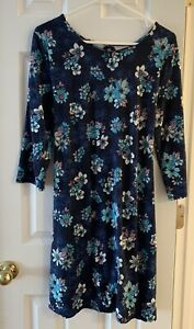 Justice Blue, Purple & Pink Floral Long Sleeve Dress Girls Size: 16/18