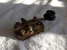 Signal Electric Straight Telegraph Key, Brass Ham Radio