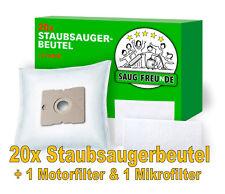 SAUG-FREUnDE 20 Staubsaugerbeutel+2 Filter für SEVERIN BC 7045 SPower Snow White