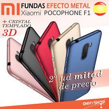 Funda Xiaomi Pocophone F1 Carcasa Rígida Dura Efecto Metal Tpu Varios Colores