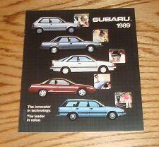 Original 1989 Subaru Full Line Sales Brochure 89 XT Justy Wagon Sedan