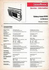 Service Manual-Anleitung für Nordmende Galaxy Mesa 6000 2.102 A,J