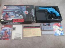 Lethal Enforcers (Super Nintendo SNES) Complete CIB w/ Gun