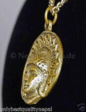 Amulet Buddha Head Pendant Charm Brass Talisman 47