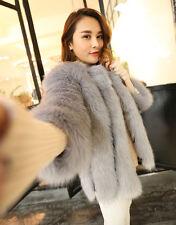 New Womens Short Coat Faux Fox Fur Jacket Warm Thickening Multi Color Outwear